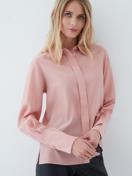 Блузка с объемными рукавами - фото 2