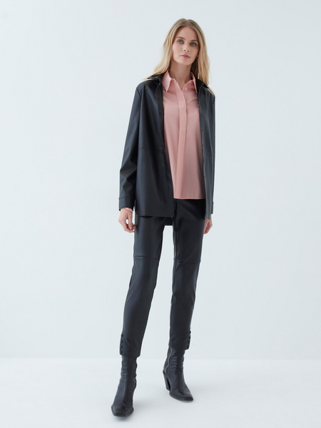 Блузка с объемными рукавами - фото 4