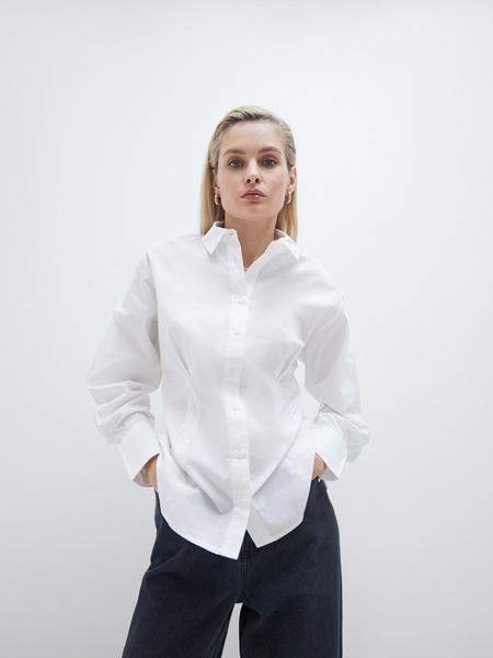 Блузка с рукавами-буфами - фото 4