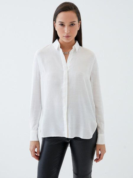 Блузка с удлиненной спинкой - фото 4