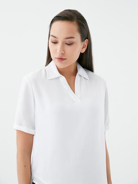 Блузка с отворотами - фото 3