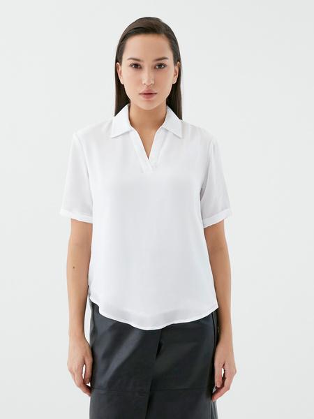 Блузка с отворотами - фото 4