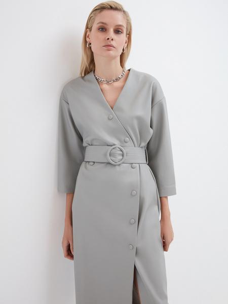 Платье из экокожи - фото 4