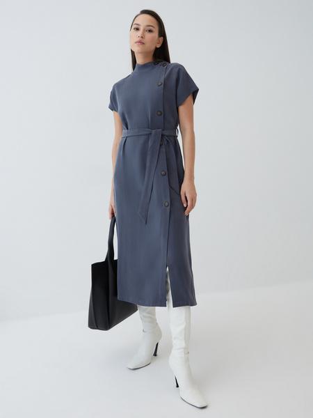 Платье-миди из вискозы - фото 1