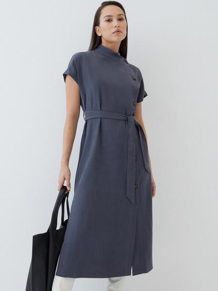 Платье-миди из вискозы - фото 2