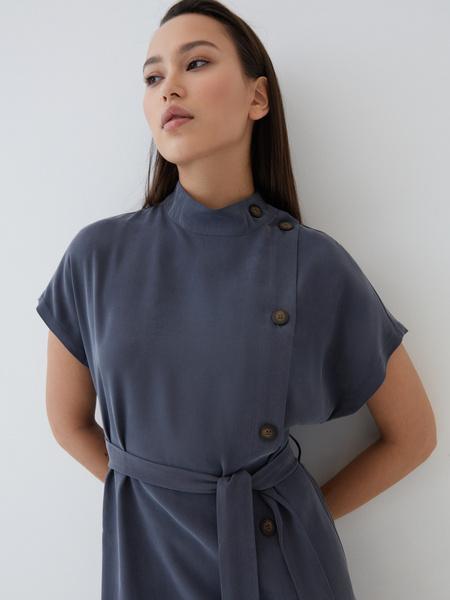 Платье-миди из вискозы - фото 3