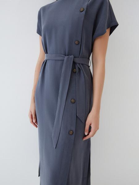 Платье-миди из вискозы - фото 4