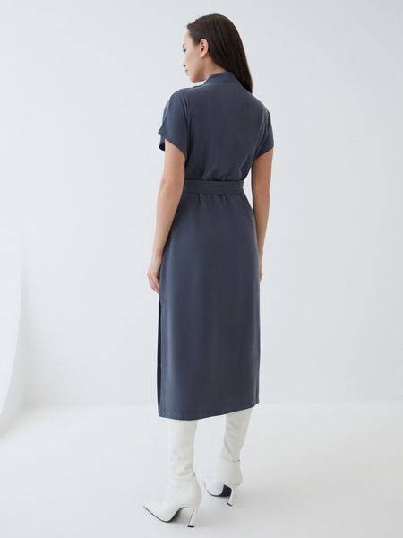 Платье-миди из вискозы - фото 6