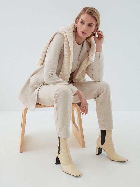 Трикотажные брюки с завязками - фото 5
