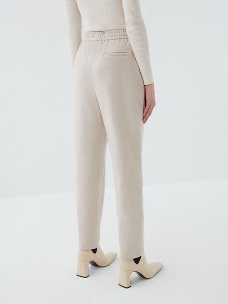 Трикотажные брюки с завязками - фото 6