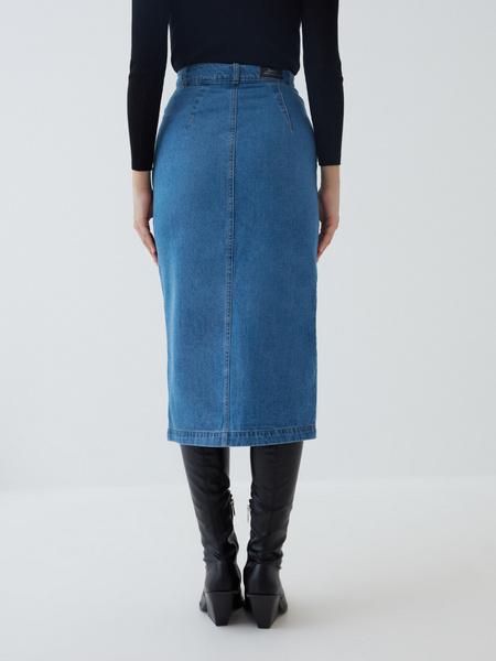 Джинсовая юбка-карандаш - фото 5