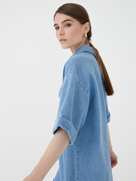 Прямое джинсовое платье - фото 5