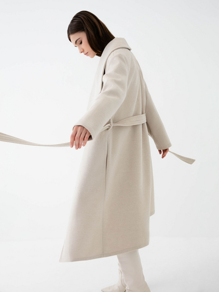 Пальто на поясе - фото 5