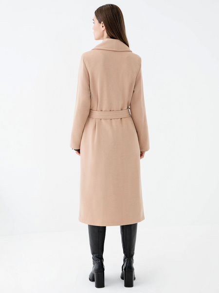 Пальто на поясе - фото 8