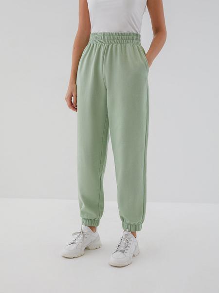Трикотажные брюки с эластичными манжетами - фото 2