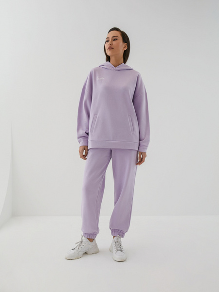 Трикотажные брюки с эластичными манжетами - фото 1