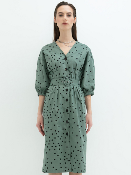 Платье- с поясом - фото 2