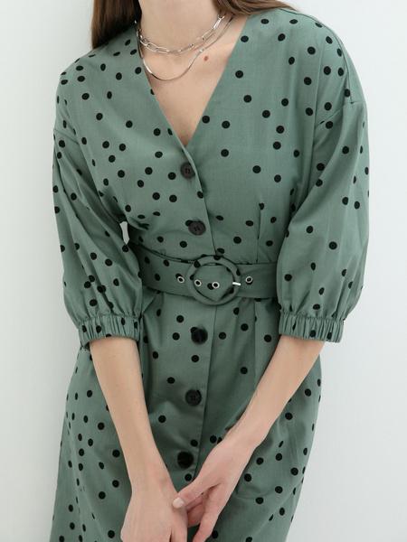 Платье- с поясом - фото 3