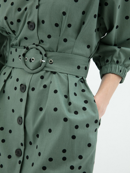 Платье- с поясом - фото 4