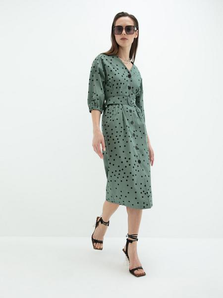 Платье- с поясом - фото 6
