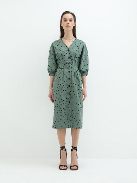 Платье- с поясом - фото 7