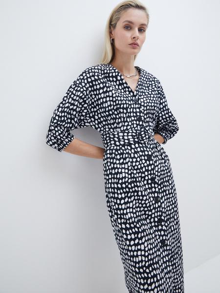 Платье- с поясом - фото 1