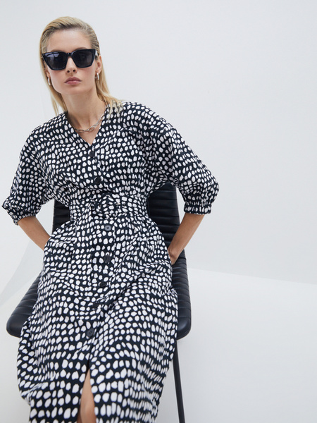 Платье- с поясом - фото 5
