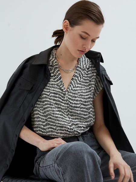 Блузка с принтом - фото 3