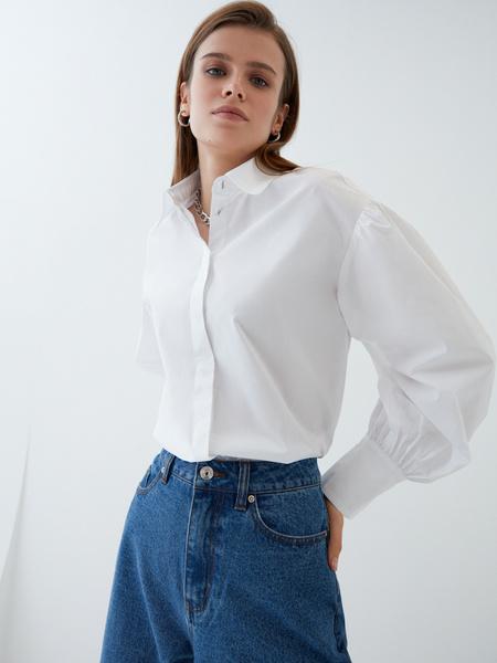 Блузка с объемным рукавом - фото 3