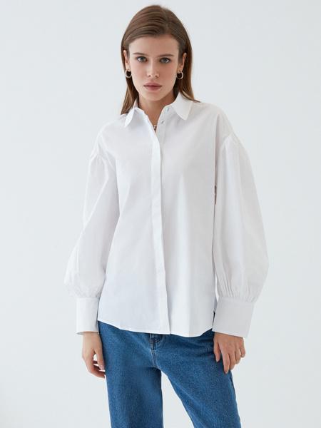 Блузка с объемным рукавом - фото 5