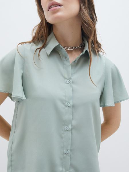 Блузка с рукавами-крылышками - фото 3