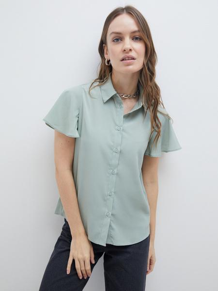 Блузка с рукавами-крылышками - фото 5