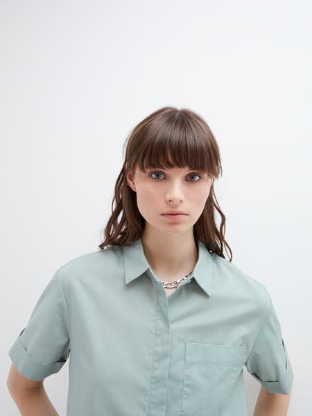 Блузка с карманом - фото 3