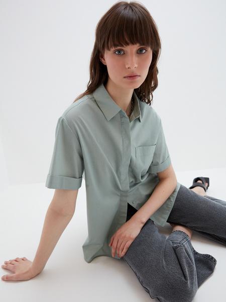Блузка с карманом - фото 4