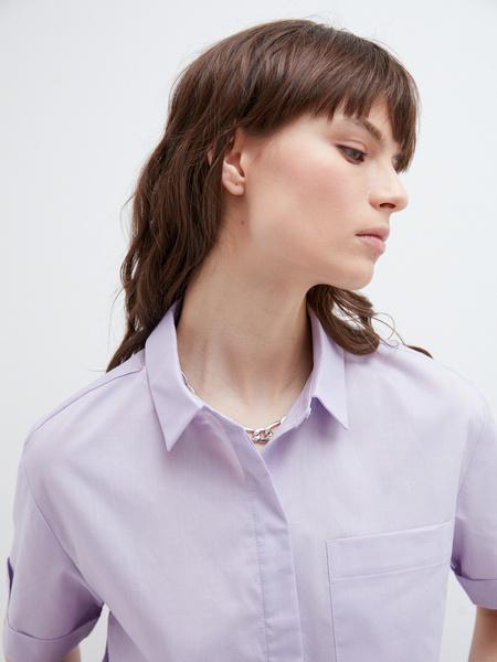 Блузка с карманом - фото 5