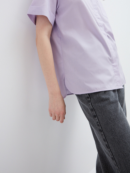 Блузка с карманом - фото 7