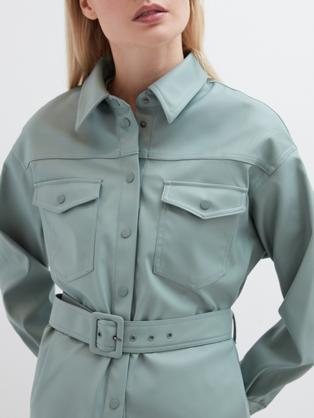 Рубашка из экокожи - фото 3