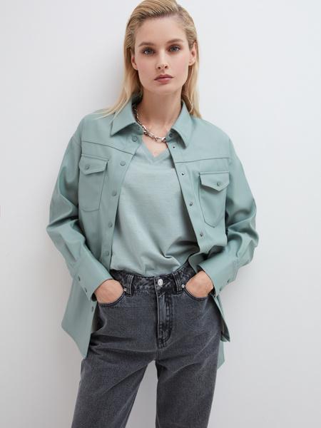 Рубашка из экокожи - фото 6