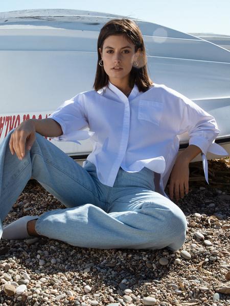 Блузка с завязками - фото 1
