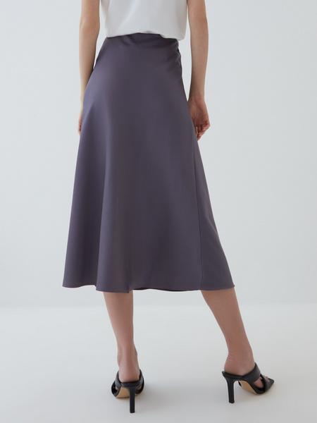 Атласная юбка - фото 5