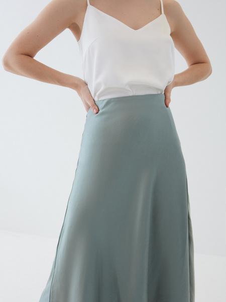 Атласная юбка - фото 4