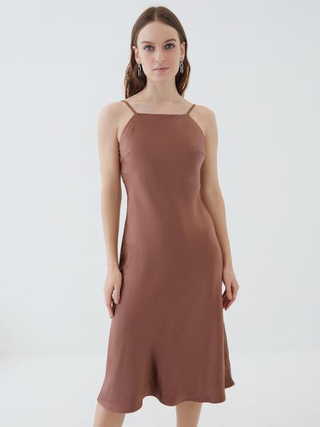 Атласное платье - фото 2
