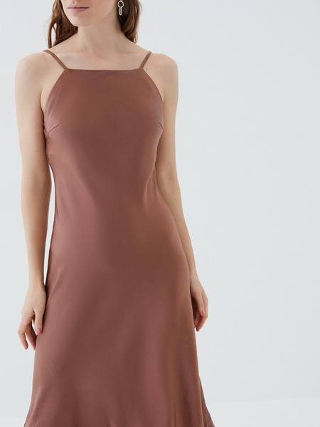 Атласное платье - фото 3