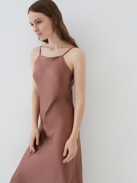 Атласное платье - фото 4