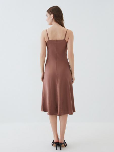 Атласное платье - фото 7