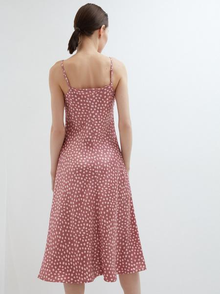 Атласное платье - фото 13