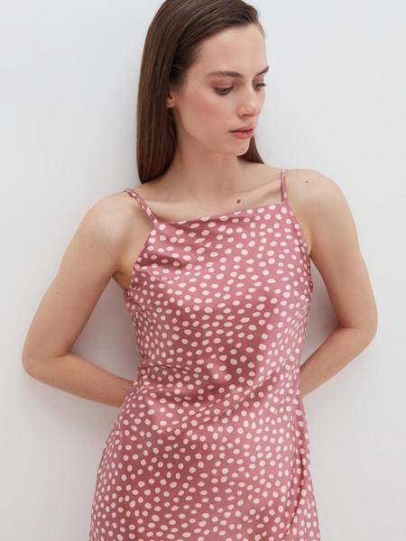 Атласное платье - фото 8