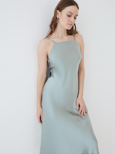 Атласное платье - фото 5