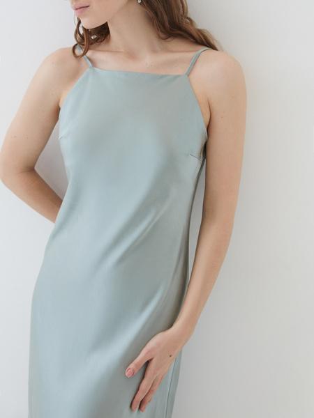 Атласное платье - фото 6