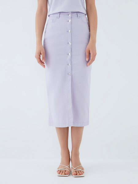 Джинсовая юбка - фото 2
